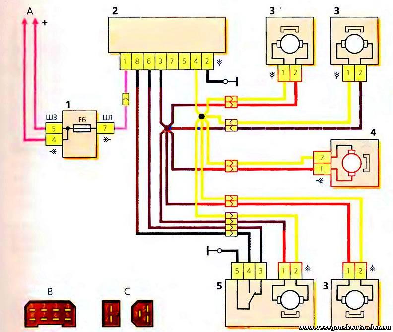 3 — мотор-редуктор блокировки