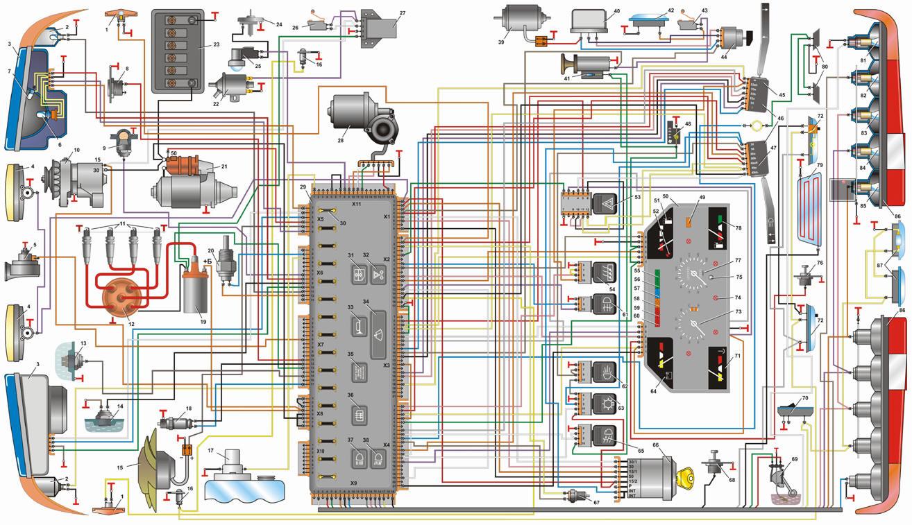 Блок индикации системы