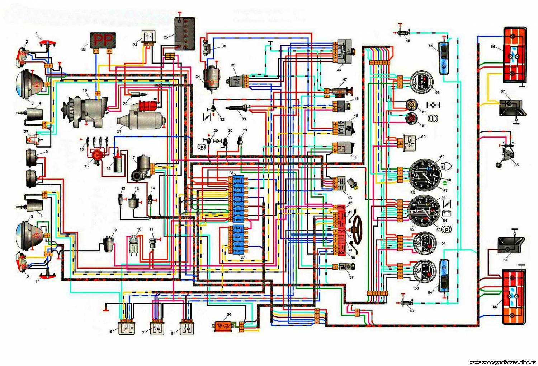 Схема проводки 2121 нива
