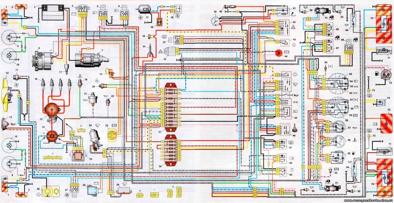 электрическая схема ваз 2107i инжектор