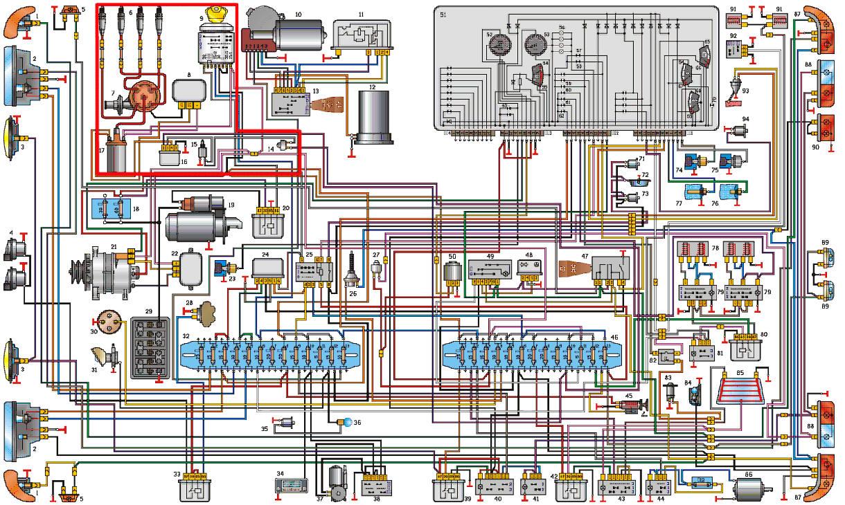 Газ 3110 406 схема фото 31
