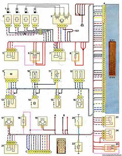 Схема инжектора ваз 2123