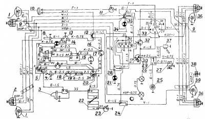схема электрооборудования камаз 65201
